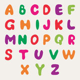 Multicolored alphabet. Children`s multi-colored alphabet. Vector illustration Royalty Free Stock Photography