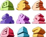 Multicolored alphabet: symbols. Vector illustration Stock Photo