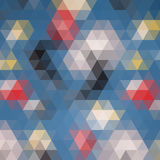 Multicolored angular wattled pattern background Stock Photo