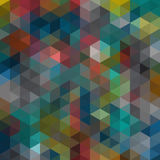 Multicolored angular wattled pattern background Stock Photography