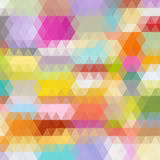 Multicolored angular wattled pattern background Royalty Free Stock Images