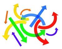 Multicolored arrows Stock Photos
