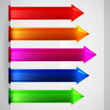 Multicolored arrows Stock Photo