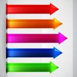 Multicolored arrows Stock Photo