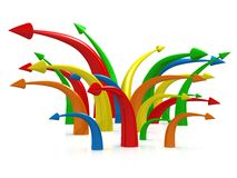 Multicolored Arrows Royalty Free Stock Image