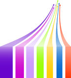 Multicolored arrows background Royalty Free Stock Images