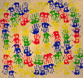 Handprint. Multicolored art from Hand prints Royalty Free Stock Photo