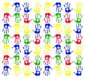 Handprint. Multicolored art from Hand prints Royalty Free Stock Image