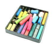 Multicolored artist's pastels (chalk) Stock Photography