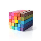 Multicolored artist's pastels Stock Photography