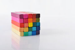 Multicolored artist's pastels Royalty Free Stock Photos