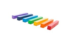 Multicolored artist's pastels Stock Images