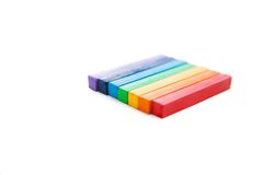 Multicolored artist's pastels Royalty Free Stock Photography