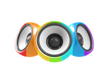 Multicolored audio system Stock Images