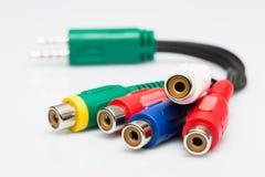 Multicolored audiokabel Stock Foto