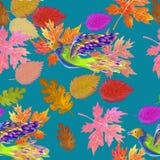 Multicolored autumn seamless Royalty Free Stock Photos