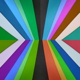 Abstract design with cuts of foamy in various colors, textured background. Multicolored backdrop for ads, stripes perspective, material and design with the royalty free stock image