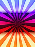 Multicolored Background. Abstract background of multicolored lines divided into three sectors Stock Photo