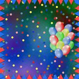 Multicolored background with balloons. Bright multicolored background with balloons and confetti Royalty Free Stock Photos