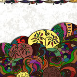 Multicolored background. Bright multicolored background zentangle style, there is a space for text Royalty Free Stock Photos