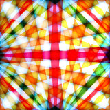 Multicolored background with crossed rays Stock Photos