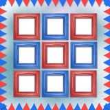 Multicolored background with frames and flags Royalty Free Stock Image