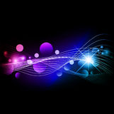Multicolored background with lights. Bright multicolored background with star and lights Stock Images