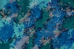 Multicolored background plastered wall in green-blue colors. royalty free stock images