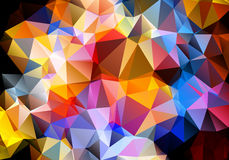 Multicolored background polygon Royalty Free Stock Images