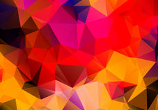 Multicolored background polygon Royalty Free Stock Photos
