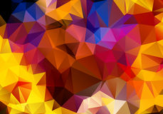 Multicolored background polygon Stock Images