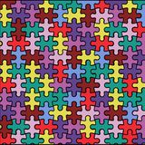 Background from puzzles. Multicolored background from puzzles.  illustration of a bright background Stock Images