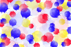 Multicolored background with red, blue and red splatter Stock Photography