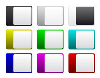 Multicolored badges Stock Image
