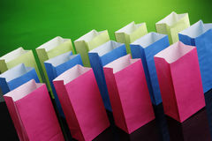 Multicolored bags Stock Photography