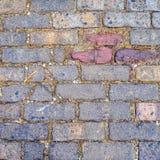 Multicolored baksteen abstracte textuur als achtergrond Royalty-vrije Stock Afbeeldingen