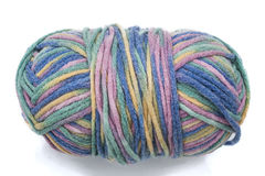 Multicolored Ball of Wool Royalty Free Stock Images
