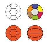 Multicolored Ballen Stock Fotografie