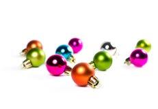 Multicolored ballen van de Kerstmisboom stock foto