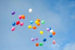 Multicolored ballons Stock Afbeeldingen