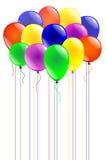 Multicolored ballons stock illustratie