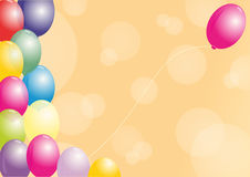 Multicolored ballons Royalty-vrije Stock Afbeelding