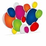 Multicolored ballons Royalty-vrije Stock Foto