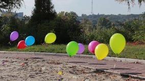 Multicolored ballons stock video