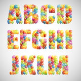 Multicolored balloon alphabet Royalty Free Stock Photo