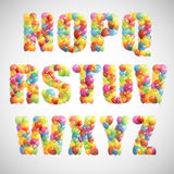 Multicolored balloon alphabet Stock Photography