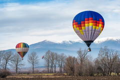 Multicolored Balloon in the blue sky Royalty Free Stock Photo