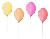 Multicolored balloons. Made of recycle paper Stock Photos