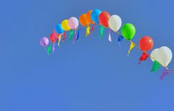 Multicolored balloons Stock Images