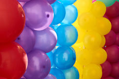 Multicolored balloons as decoration. Sulight Stock Images
